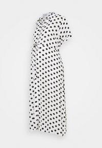 Glamorous Bloom - DRESS WITH BELT MATERNITY - Długa sukienka - white/black - 0