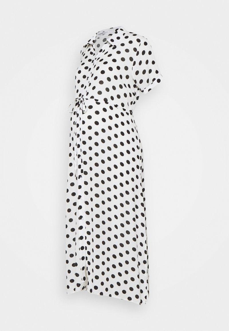 Glamorous Bloom - DRESS WITH BELT MATERNITY - Długa sukienka - white/black