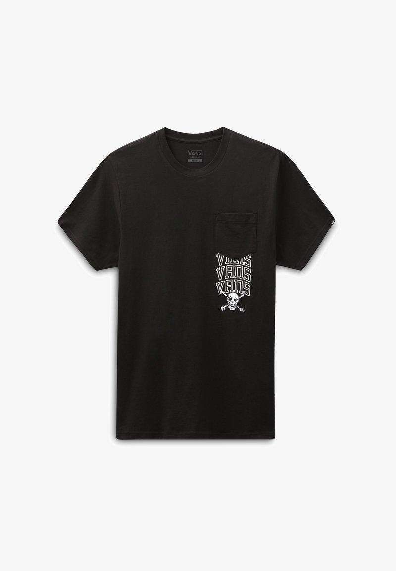 Vans - MN NEW VARSITY POCKET SS - Print T-shirt - black