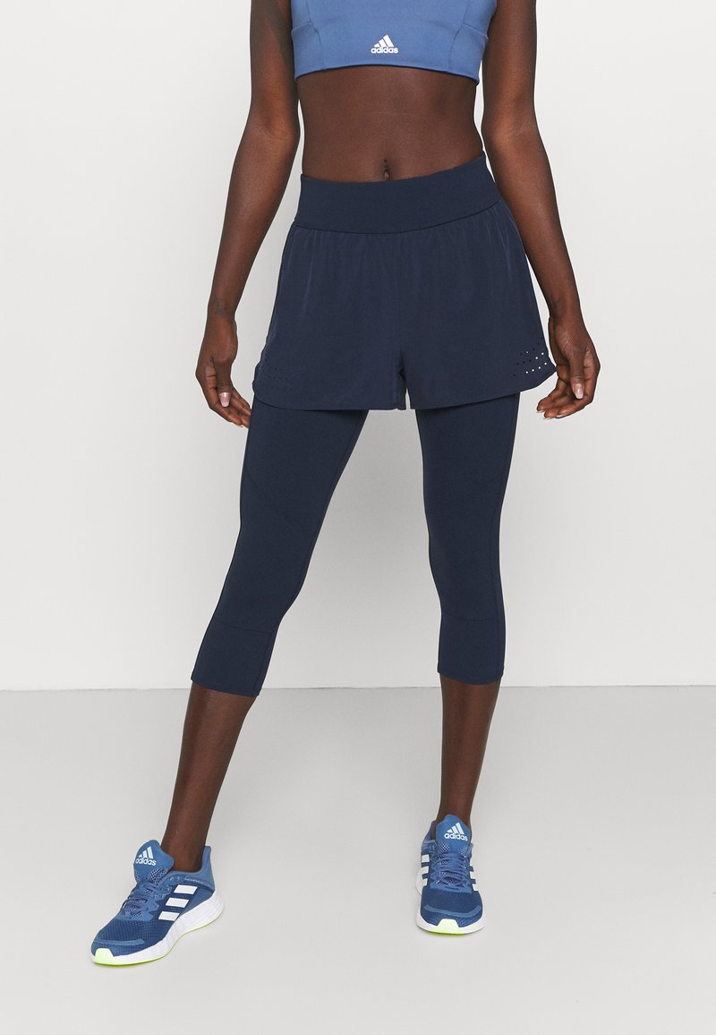 Sweaty Betty - POWER DOUBLE UP WORK OUT LEGGINGS - Tights - navy blue