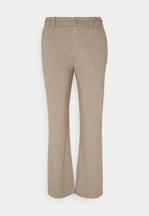 DÈCOR - Trousers - beige sand melange