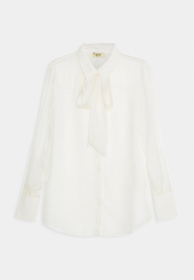 LIU JO - CAMICIA FIOCCO - Košile - star white