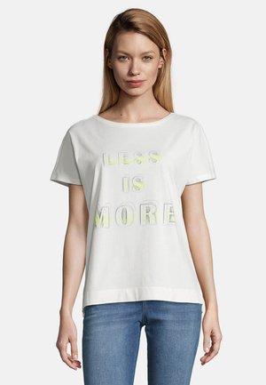 Print T-shirt - cream/light blue