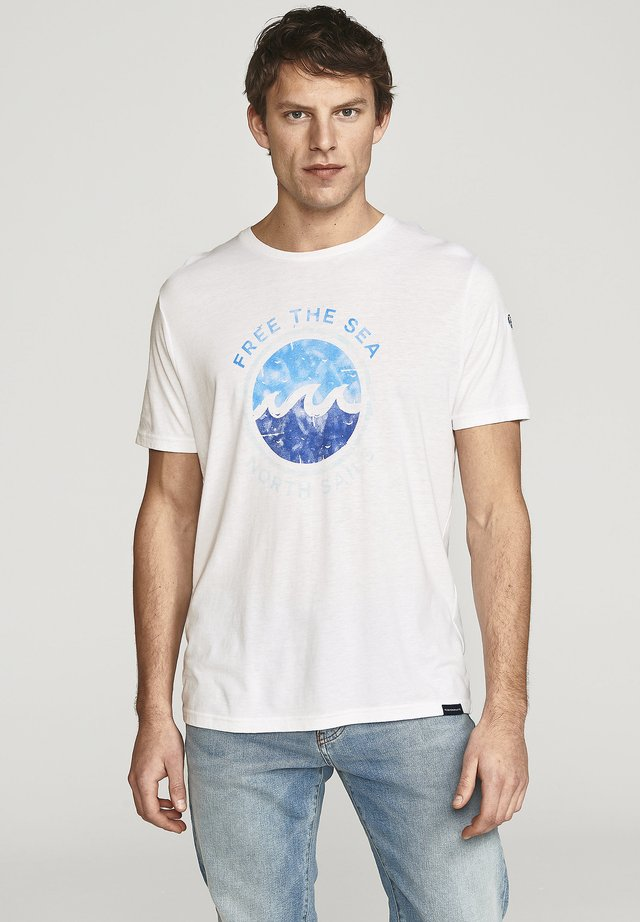 FREE THE SEA  - T-shirt imprimé - white