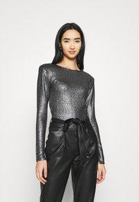 Gina Tricot - JONNA - Bluzka z długim rękawem - black/silver - 0