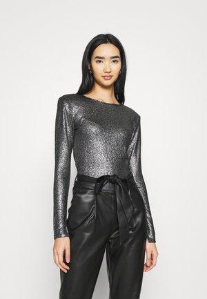 JONNA - Bluzka z długim rękawem - black/silver