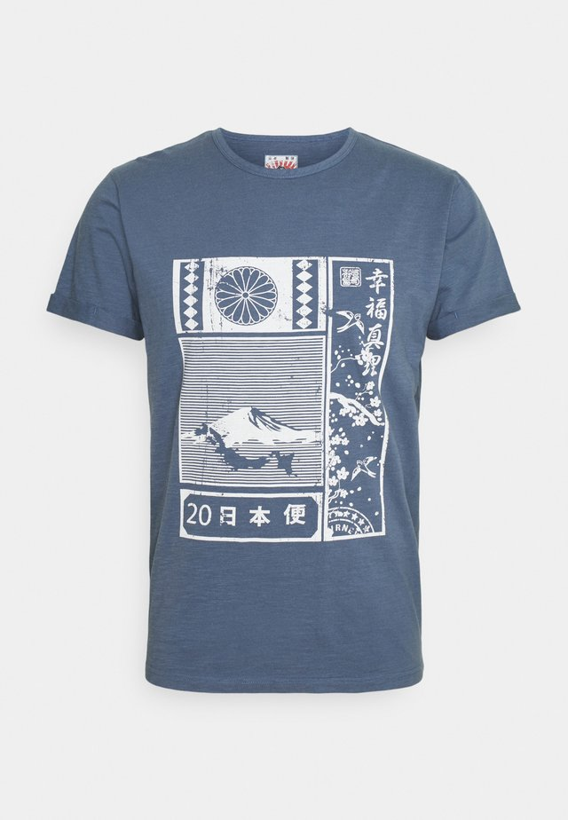 GALINDO - T-shirt imprimé - china blue