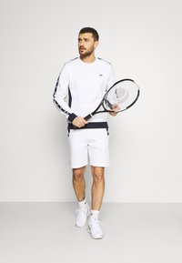 Lacoste Sport - TAPERED - Sweater - white/navy blue - 1