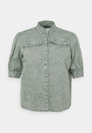 NMUMA 3/4 PUFF - Button-down blouse - slate gray