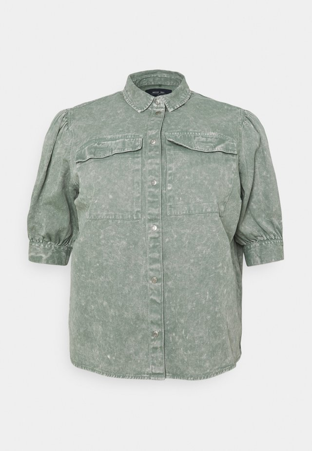 NMUMA 3/4 PUFF - Skjortebluser - slate gray