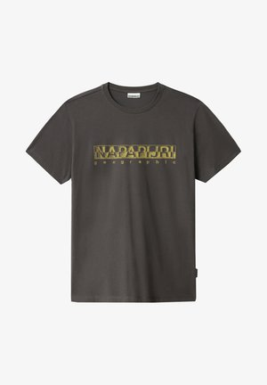 SALLAR - Print T-shirt - dark grey solid