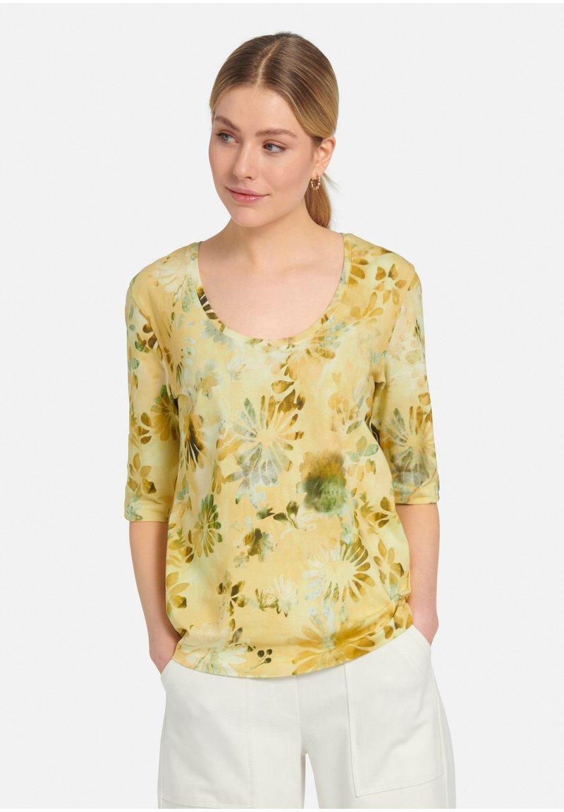 MARGITTES - Print T-shirt - gelb