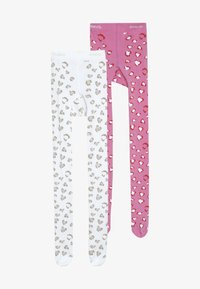Ewers - LEOPARD 2 PACK - Tights - pink/creme - 3