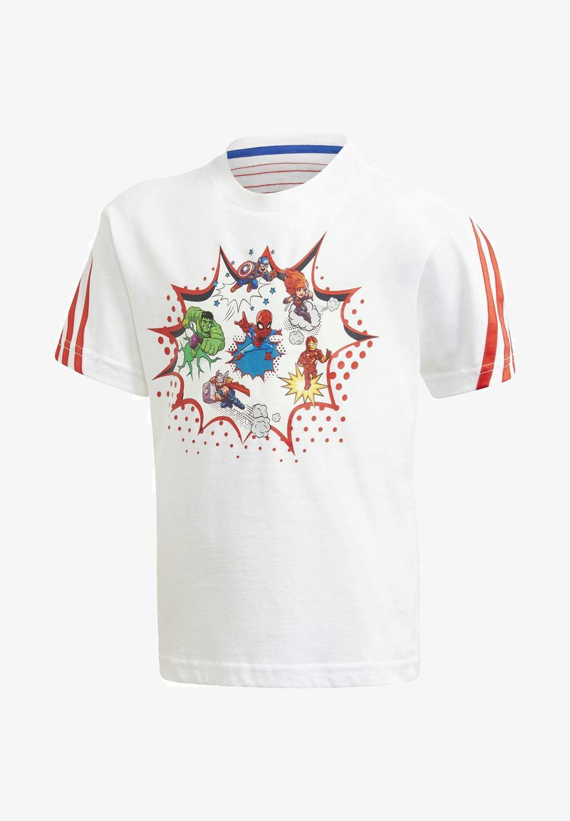 adidas Performance - SUPERHERO ADVENTURES T-SHIRT - Print T-shirt - white