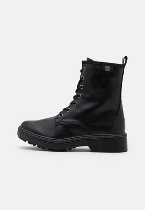 BOOTS - Lace-up ankle boots - black