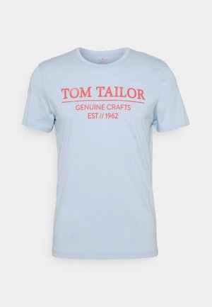 Print T-shirt - light metal blue