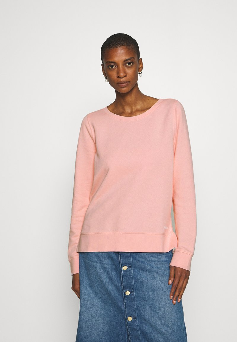Marc O'Polo - LONG SLEEVE ROUND NECK PRINT AT BACK - Mikina - rose cream
