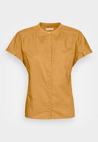 BLOUSE CREW NECK - Button-down blouse - sweet corn