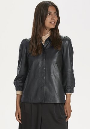 FREYJAPW - Button-down blouse - black