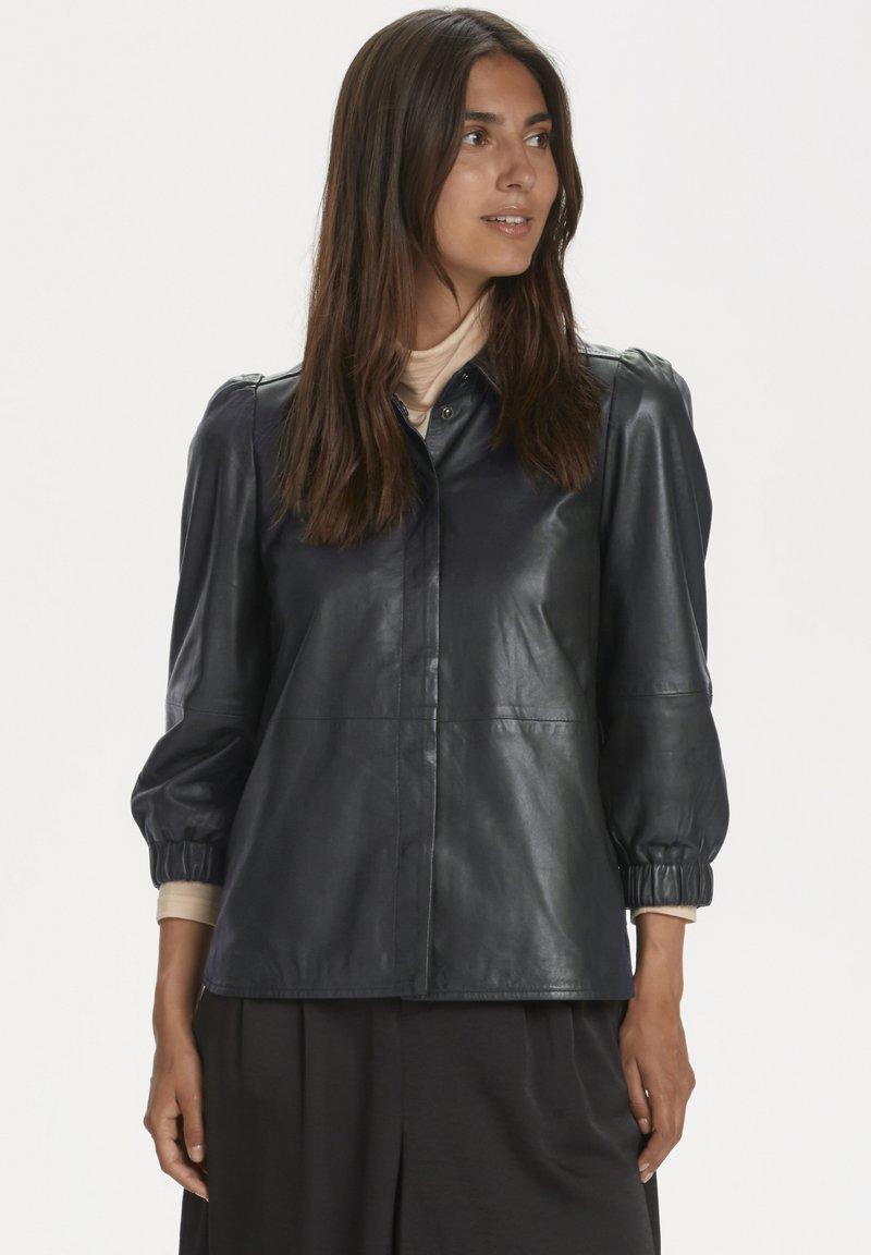 Part Two - FREYJAPW - Button-down blouse - black