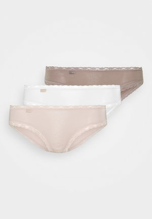 WEEKEND HIPSTER 3 PACK - Trusser - nude