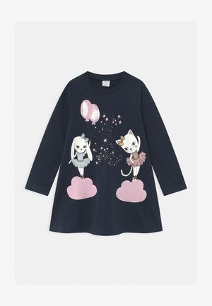 MINI LONG A-LINE SWEET - Sweater - navy