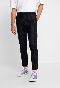 We are Cph - JANZIK STRING PANTS  - Trousers - navy/white - 0
