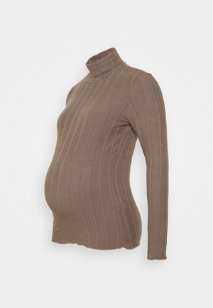 PCMSAOREM ROLL NECK - Jumper - taupe