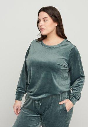 MIT BINDEDETAIL - Sweatshirt - green