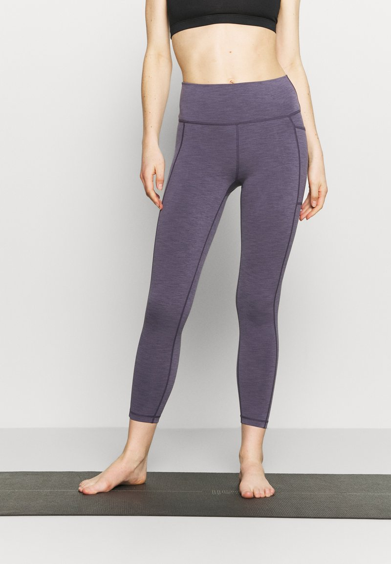 Sweaty Betty - SUPER SCULPT 7/8 YOGA LEGGINGS - Leggings - fig purple