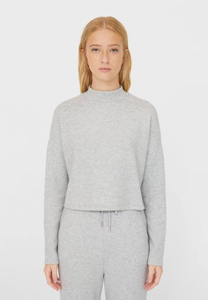 MIT ROLLKRAGEN - Long sleeved top - grey