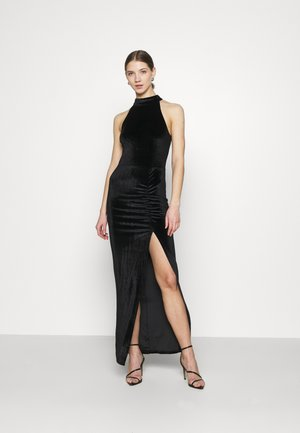 DRAPY HIGHNECK GOWN - Iltapuku - black
