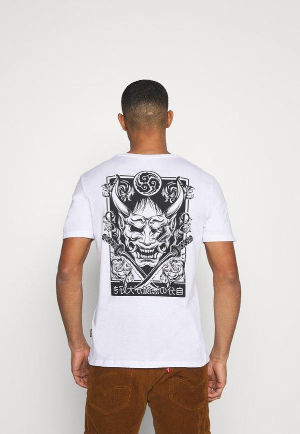 YOURTURN T-shirt z nadrukiem - white/biały Odzież Męska KYFF