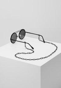 Urban Classics - CHAIN SUNGLASSES - Sunglasses - black/black - 2