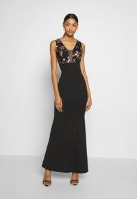 WAL G. - FLORAL MAXI DRESS - Vestido de fiesta - black - 0