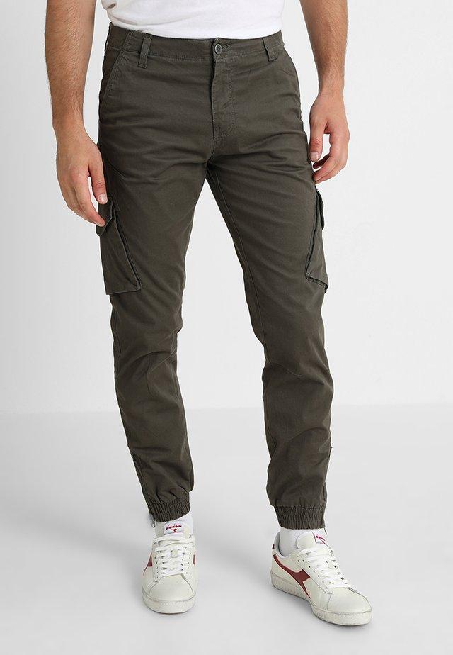 BATTLE ZIP - Pantaloni cargo - raven kaki
