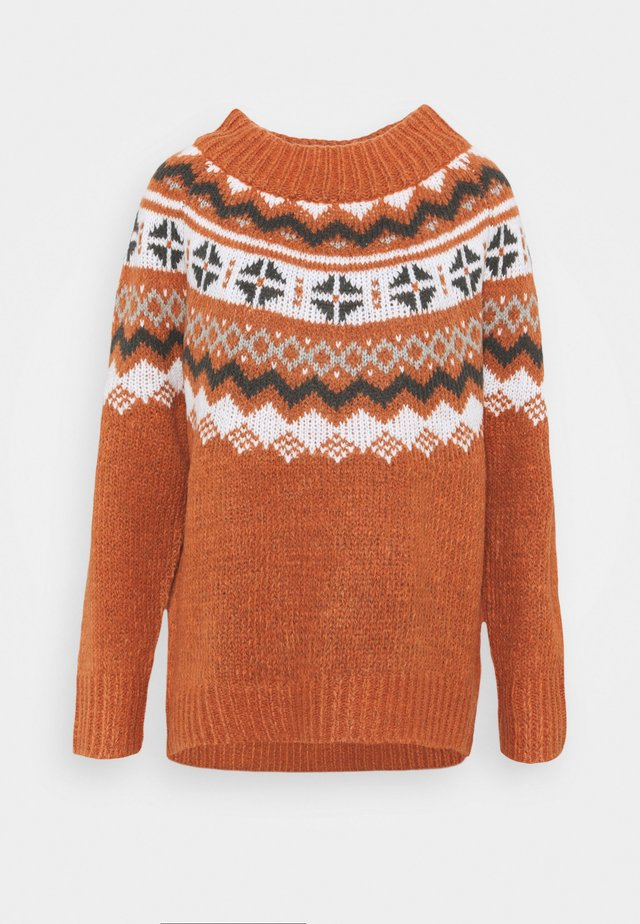 YOKE FAIRISLE MOCKNECK - Maglione - canyon creek