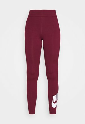 LEGASEE FUTURA - Leggings - Trousers - dark beetroot/white