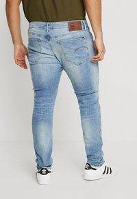 G-Star - 3301 SLIM - Slim fit jeans - light indigo aged - 2