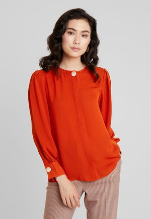 LONG SLEEVE BLOUSE WITH BUTTON - Blouse - reds