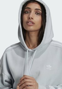 adidas Originals - ADICOLOR CLASSICS CROP HOODIE - Sweat à capuche - blue - 4