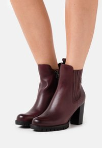 Marco Tozzi by Guido Maria Kretschmer - BOOTS - High heeled ankle boots - bordeaux - 0