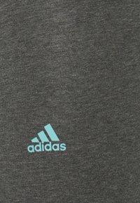 adidas Performance - LOUNGEWEAR ESSENTIALS HIGH-WAISTED LOGO LEGGINGS - Tights - dark grey heather/mint ton - 6