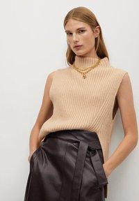 Mango - CHOCOLAT - A-line skirt - marron - 5