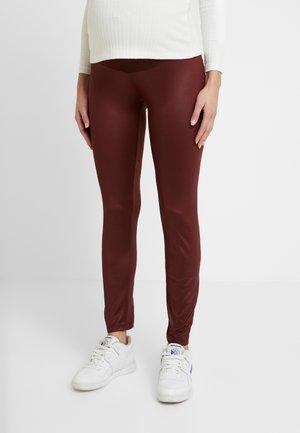 SHINNY - Leggings - Trousers - bordeaux