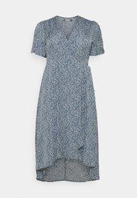 Missguided Plus - HIGH LOW DRESS - Maxi dress - blue - 0