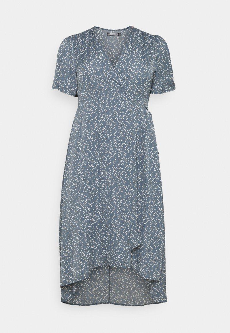 Missguided Plus - HIGH LOW DRESS - Maxi dress - blue