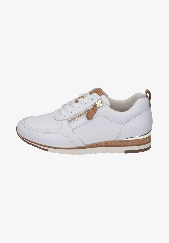 Sneakers laag - white/cognac