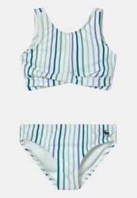 Abercrombie & Fitch - TWIST FRONT NECK SET - Bikini - blue - 0