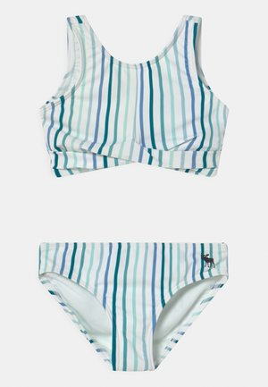TWIST FRONT NECK SET - Bikiny - blue